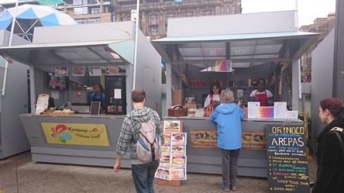 People perusing stalls at Boxsmall