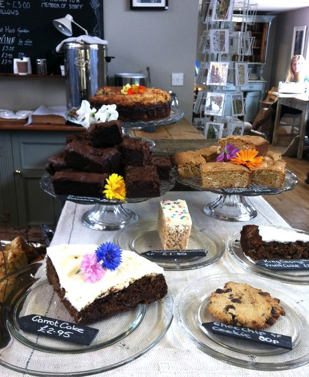 A delicious selection of cakes awaits you