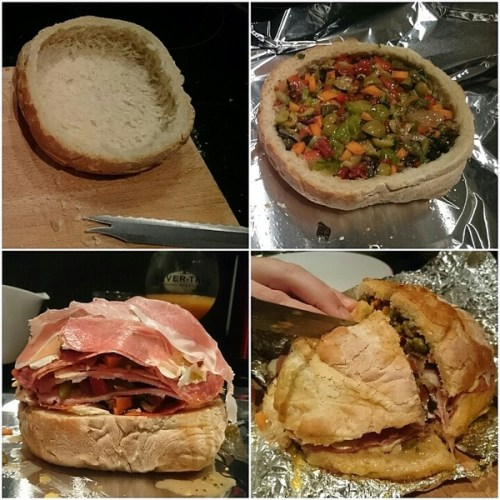 The four stages of muffuletta