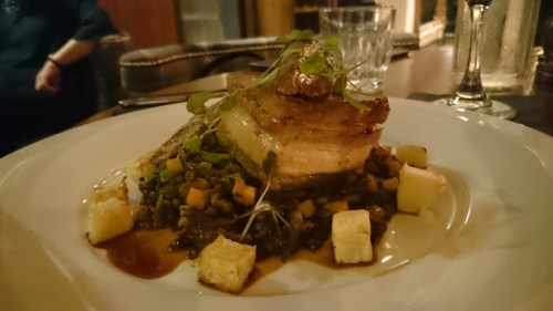Confit pork belly at Element Rose St