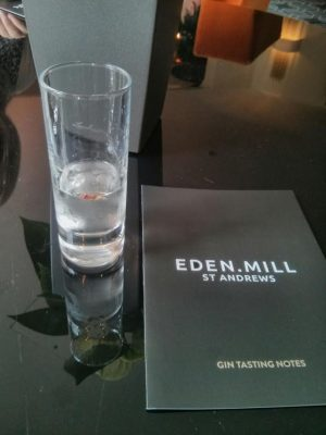 Turkish Delight cocktail: Eden Mill Love gin, créme de cacao and gomme.