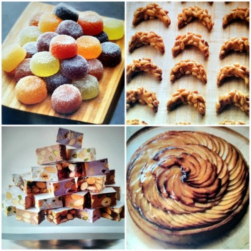 Pate de fruits, pignon, nougat and tartes aux pommes. Luscious photography.