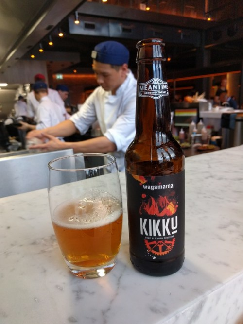 Kikku chilli beer brewed by Meantime and Wagamama