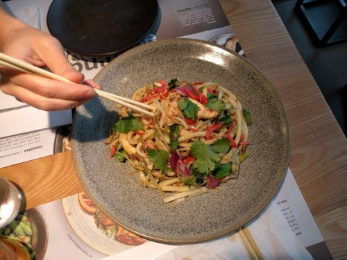 Ginger chicken udon at Wagamama