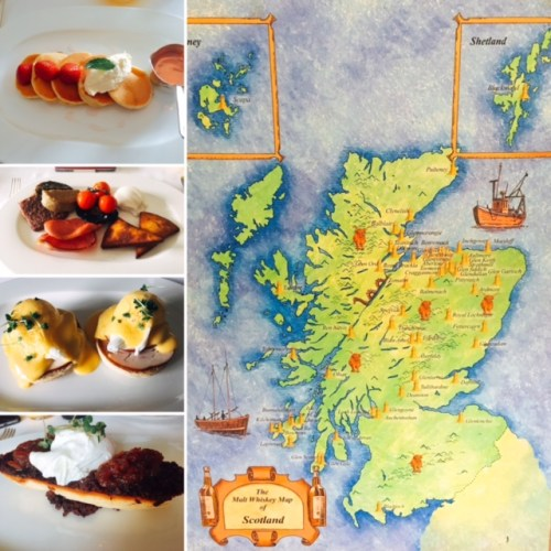 Don't know your Highlands from your Lowlands? A map helpfully takes you on The Full Quintessential Scottish Breakfast Experience