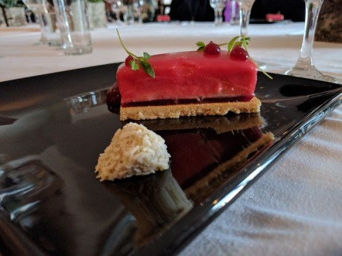 Rhubarb mousse by Cater