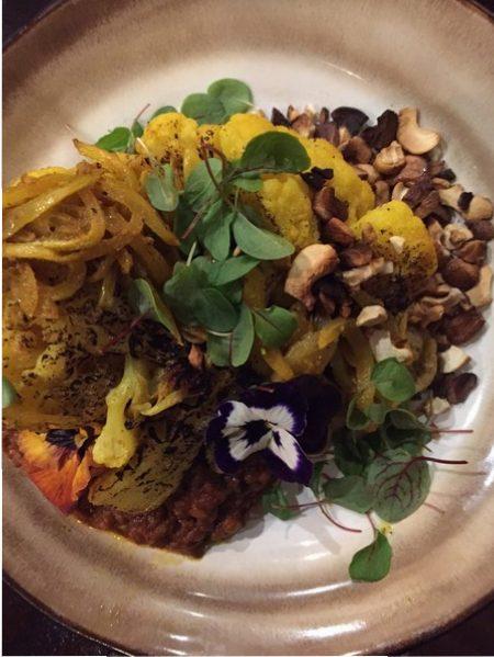 Slow cooked dahl & roasted cauliflower