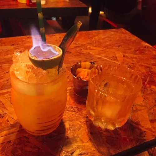 Up in flames - The Painkiller Cocktail is a theatrical affair.