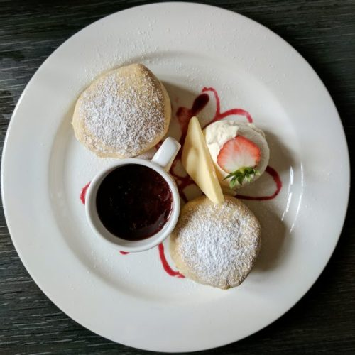 Plain scones with cream and jam: utter bliss.
