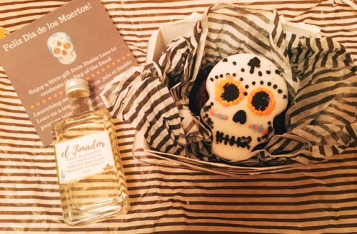 An enticing 'Day of the Dead' cupcake and tequila set the scene for the launch of a new Mexican bar, Diablo Loco in Edinburgh