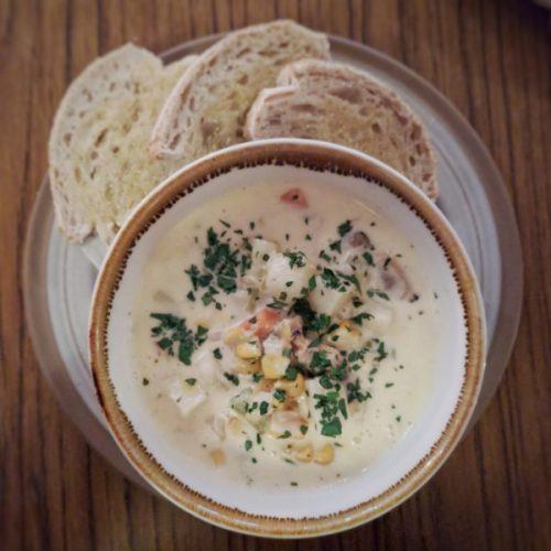 Dreamy creamy chowder.