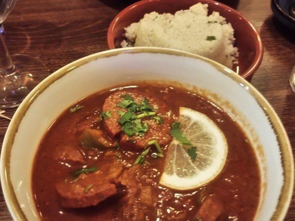Soujuk - spicy Lebanese sausage stew