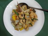 Seafood with cashew nuts. Yummy!