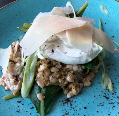 Smoked haddock and pearl barley risotto