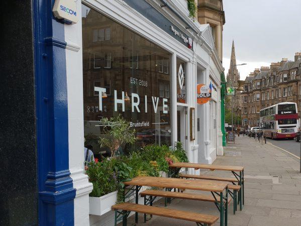 Thrive, on what I now call Bruntsfield Terrace's veggie corner.