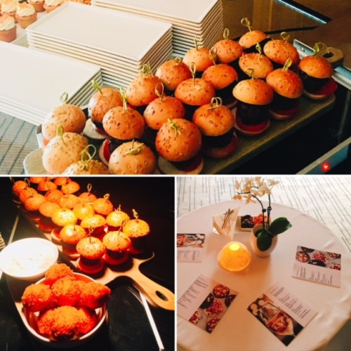Some of the tasty morsels served up at the Warldorf's festive preview