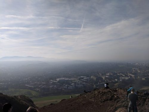 Edinburgh - the view form Arthur's Seat.