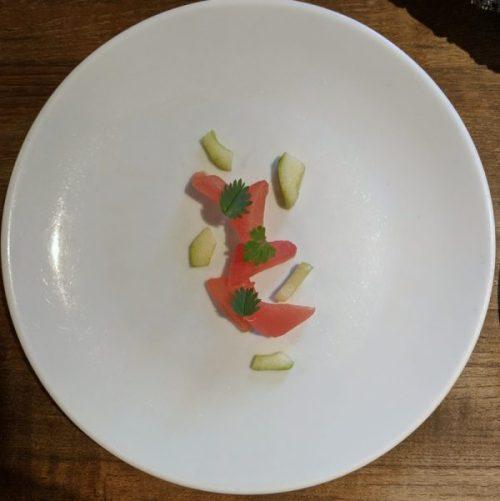 Tomato, cucumber, salad burnet.