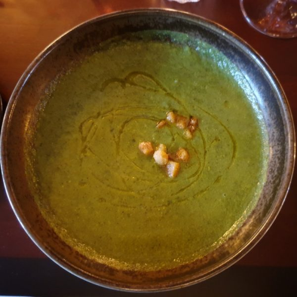 Courgette and basil soup: a very healthy serving of.