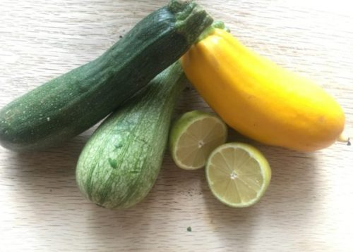 While we wait for the squashes to ripen, let's enjoy courgettes.