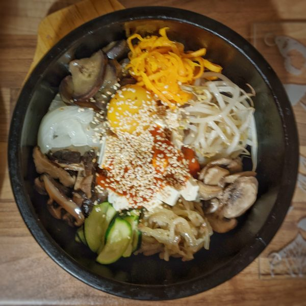 Bibimbap to die for. We might release the yolk porn film on Instagram.