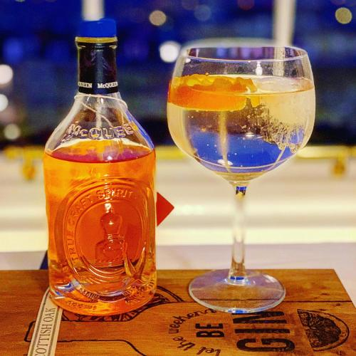 McQueen Blood Orange and Cranberry gin - the perfect accompaniment for our Hogmanay dinner