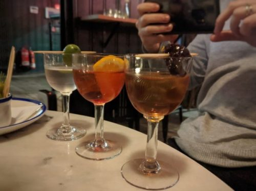 Cocktail flight: what a glorious idea!