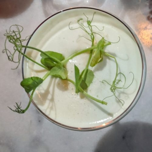Nadar Gin Pea Sour: pretty and tasty.