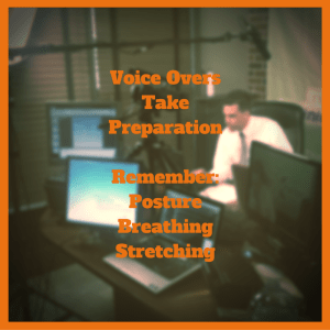voice overs take preparation posture breathing stretching