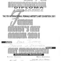 תעודת הצטיינות בתערוכת נשים 2001