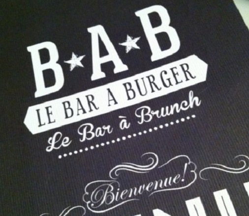 bar à burger menu restaurant