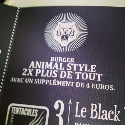 supplément animal bar à burger restaurant