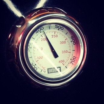 weber barbecue température