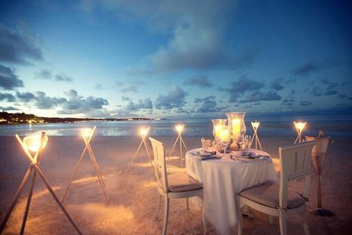 diner homard ile maurice sur la plage