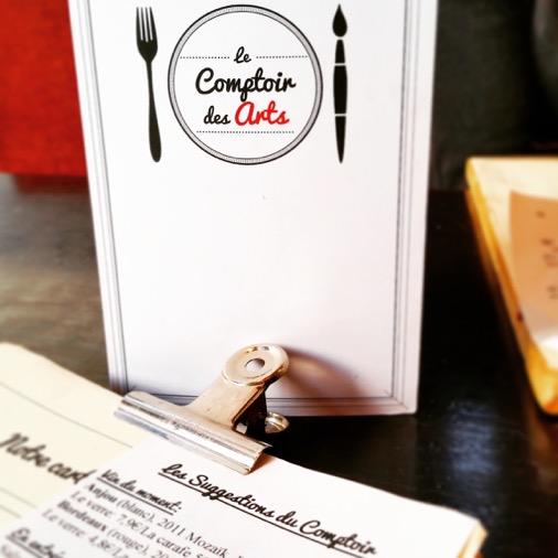 Le comptoir des arts restaurant menu