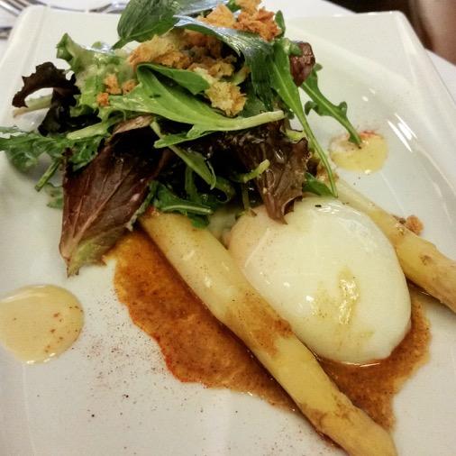 le petit sommelier restaurant paris oeuf asperges