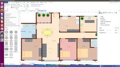 Sweet Floor Plan Software for Linux | Design Floor Plan and Arrange Furniture Quickly