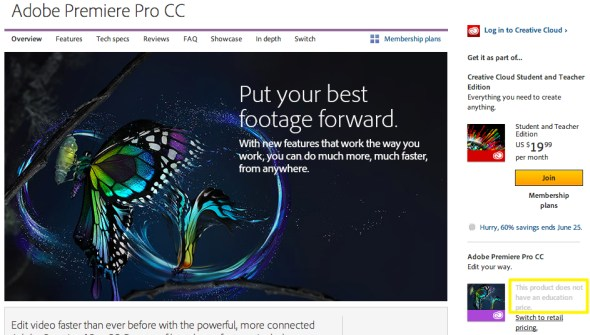 Adobe Premiere Pro CC Creative Cloud