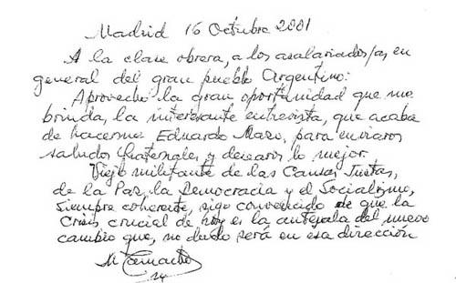 DEDICATORIA DEl lider sindical español MARCELINO camacho A LOS TRABAJADORES ARGENTINOS. copia