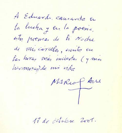 Mensaje del poeta Marcos Ana, prisionero más de veinte años en las cárceles franquistas. copia