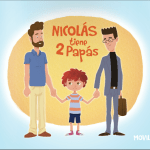 Nicolás tiene 2 papás: familias homoparentales