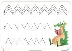 Fichas de grafomotricidad: Trazos verticales y horizontales