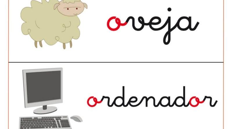 """fichas de letas con la letra del abecedario """" O"""""""