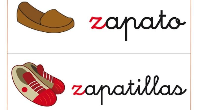 Fichas de letras para niños que comienzan por letra z