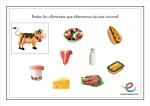 Fichas alimentación infantil en primaria