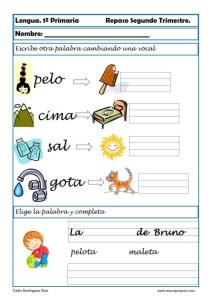 ejercicios lengua primero primaria 06