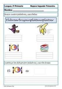 ejercicios lengua primero primaria 09