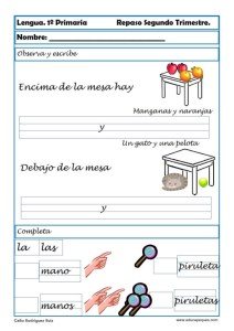 ejercicios lengua primero primaria 16