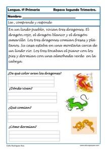ejercicios lengua primero primaria 17