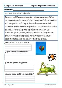 ejercicios lengua primero primaria 18